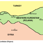 Rojava: western Kurdistan (northern Syria) Source: https://upload.wikimedia.org/wikipedia/commons/c/c9/Rojava_cities.png