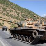 Turkish security forces in northern Kurdistan